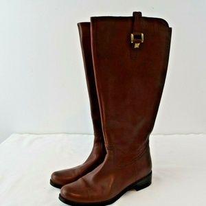 Blonde Velvet Waterproof Boots, Size 7M Wide Calf
